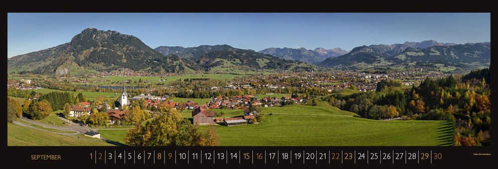 Panoramakalender September